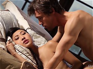 sexy asian Sharon Lee is spooned and creamed