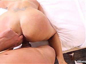 horny tan milf boinks stud in motel