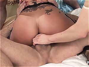 Kerry Louise and Cindy Behr tit-fucking