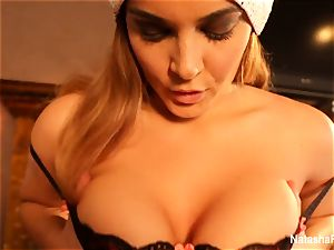 huge-titted Natasha's super splendid Christmas getting off