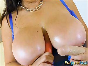 EuropeMaturE huge-boobed Mature Lulu plump and large mammories