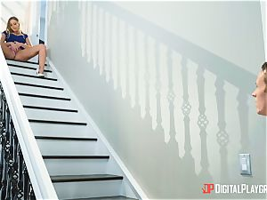super-steamy stairway vulva bashed Britney Amber