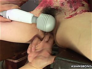 asian biotch enjoys to be bdsm handled to a wax show