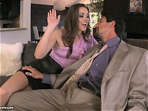 Tori ebony satisfies her man's trunk making it really rock hard to treat