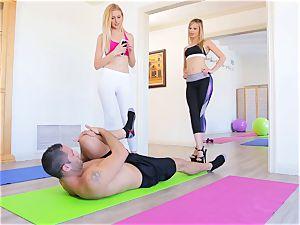 teenage Yoga Sn 1 Jillian and Alexa enjoy to share