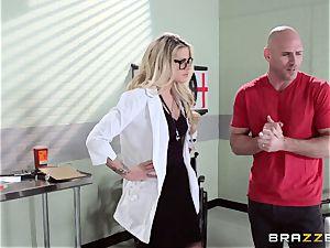 super-steamy doctor Jessa Rhodes checks out this humungous cock