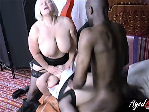AgedLovE Lacey Starr interracial three-way