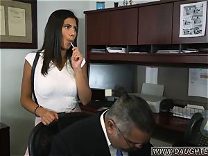 mom catches compeer duddy s daughter very first time Bring Your duddy s daughter-in-law to Work Day
